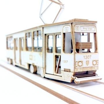 (Модель из картона - Трамвай Konstal 105Na в масштабе 1:72) доставка товаров из Польши и Allegro на русском