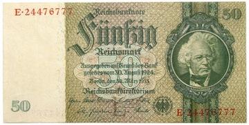 Германия - КУПЮРА - 50 Марок 1933 - выпуск 1941 доставка товаров из Польши и Allegro на русском