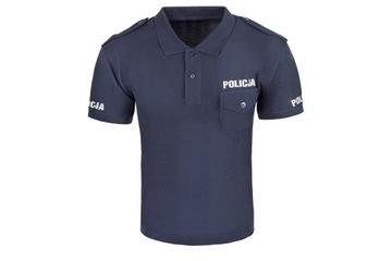 Рубашка поло ПОЛИЦИЯ, граната, новый узор М, пике доставка товаров из Польши и Allegro на русском