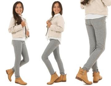 Klasyczne leginsy getry jeansowe-melanż 158 KROPEK доставка товаров из Польши и Allegro на русском