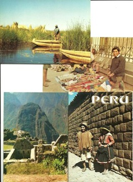 Zestaw - Peru - 9 pocztówek w obwolucie / komplet доставка товаров из Польши и Allegro на русском