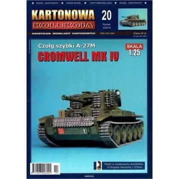 Kartonowa Коллекция из 20 - Танк Кромвель Mk IV 1:25 доставка товаров из Польши и Allegro на русском