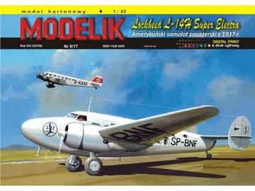 Штампик 6/17 - Lockheed L-14H Super Electra 1:33 доставка товаров из Польши и Allegro на русском