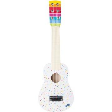 Gitara pre deti klasické biele 53 cm drevo