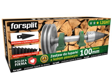 Drevený splitter 100mm s remenou