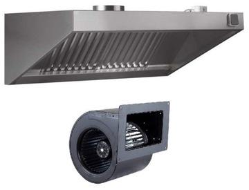 Gastronomická kapucňa 2500x900x400 Turbine Filtre