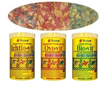 Potraviny pre ryby Ichto-VIT BIO-VIT OVO-VIT 3L / 570G