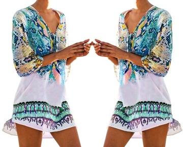 Sukienka Maxi Dluga Letnia Plazowa Luzna Paski Xl 6864819782 Oficjalne Archiwum Allegro