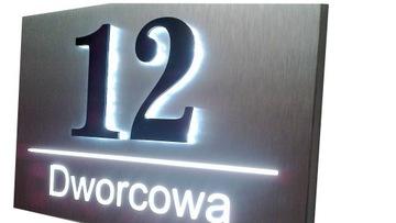 Светодиодная подсветка номера дома 30х20см