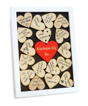 Подарок ко Дню святого Валентина большая 3D рамка - пишите сердечки!
