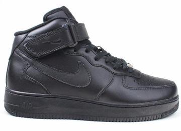 Nike Air Force 1 '07 LV8 Suede Trainers In Black AA1117 001 Black Buty męskie czarne w Asos