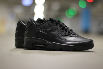 Buty Nike Wmns Air Max 90 Leather Triple Black (921304002