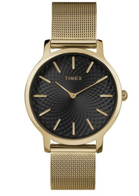 Zegarek damski Timex Metropolitan złoty mesh 30M