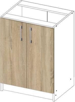 ШКАФ кухонная стоящая S 60см 2D сонома / белая