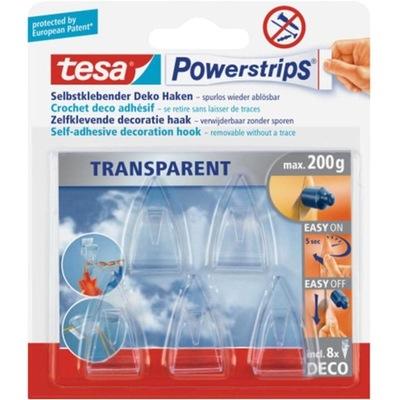 крючки вешалки TESA Powerstrips прозрачные x5