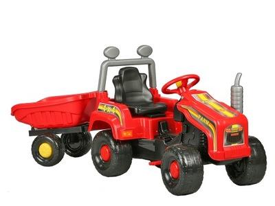 Traktor pre deti - Veľká TRAKTOR + TRAILER pre pedále + ZDARMA podložky