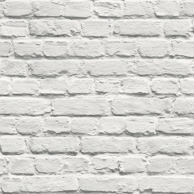 ОБОИ белая Кирпич Стена камень ОБОИ 3D flizelina