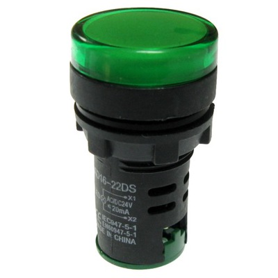 indikátor LED zelená 12V AC/DC AD16-22 pripojí