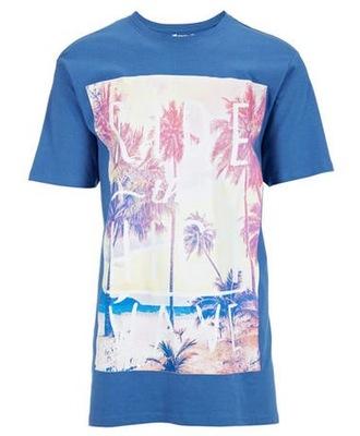+size MĘSKI T-shirt INDIGO koszulka 3XL 64-66 nieb