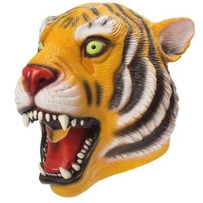 Karnevalový kostým, maska - Tiger maska latexové oblečenie CARNIVAL maskovanie