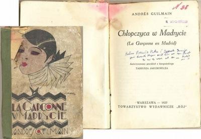 Chłopczyca w Madrycie 1927 Guilmain