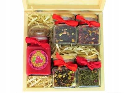 комплект подарок Мед с фруктами + 4 чая  !