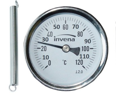 SHIELD THERMOMETER S PIPE BAND 63mm 0-120C