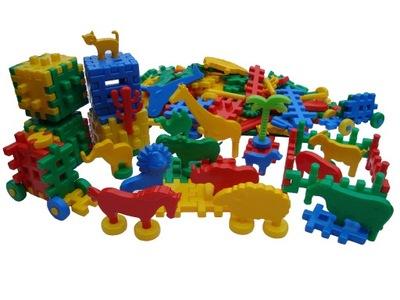 КОЛОДКИ ВАФЛИ конструкции 60 элем микс для детей