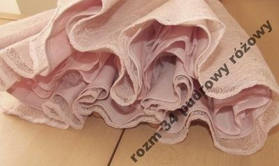 MOHITO XS/34 kolor Pastelowy Różowy HALKA TIUL