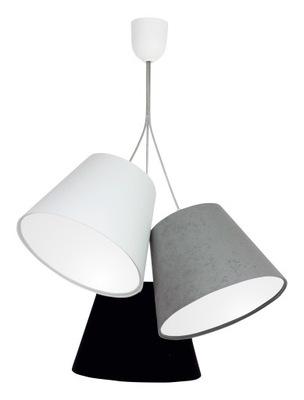 Lampa wisząca Roma MIX 3 abażury biały szary czarn
