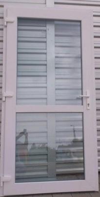 Drzwi PCV 90x210 Białe zewnętrzne sklep aluminiowe