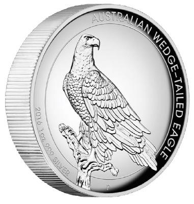 Австралия 2016 - 1 $ Орел Австралийский High Relief