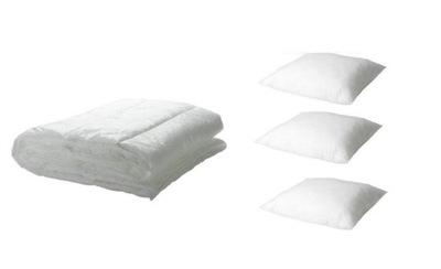 IKEA 3x poduszka SLAN + kołdra 200x200 MYSKGRAS