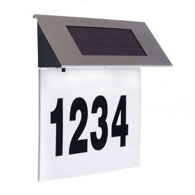Solar-LED podświetlenie numeru domu czujnik