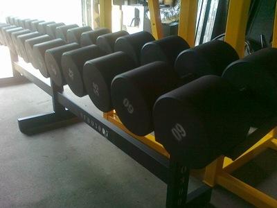HANTLE STAŁE STALOWE 5-50kg co 2,5kg 1045kg STOJAK
