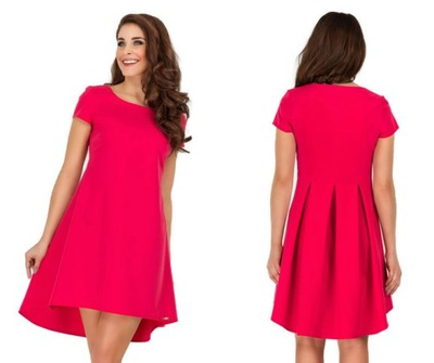 bc4f3acac6 Krótka sukienka z dłuższym tyłem 1412 S-2XL - 7388820070 - oficjalne ...
