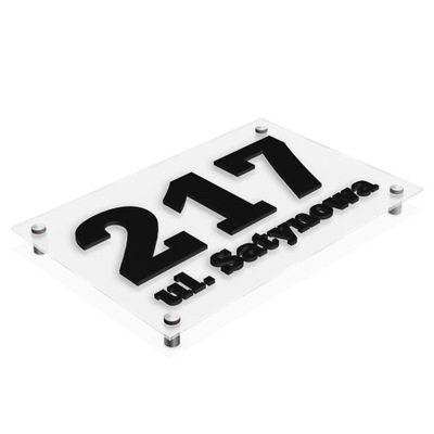 Pole 3D adresu Doska na dom, SATÉN 30x20 Znak