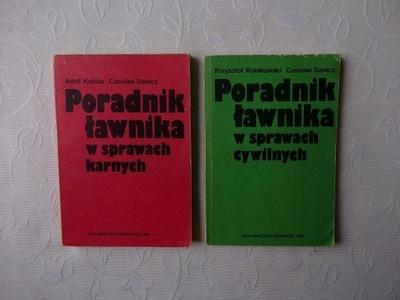 PORADNIK ŁAWNIKA SPRAWACH CYWILNYCH+KARNYCH /PRAWO