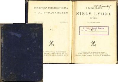 Niels Lyhne 1927 Jacobsen 2 tomy Mortkowicz