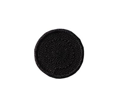 Полоса аппликация термо МАЛЕНЬКАЯ ЗАПЛАТКА кольцо черная