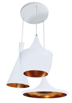lampa wisząca sufitowa biała złota glamur żyrandol