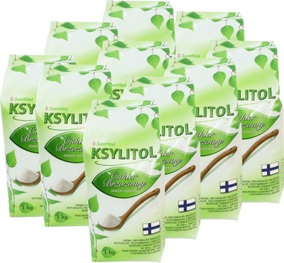 Ксилит, сахар березовый - пакет 10x1kg Сантини