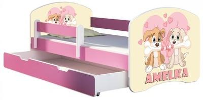Detská posteľ 160x80 box matrac RUŽÍ ACMA