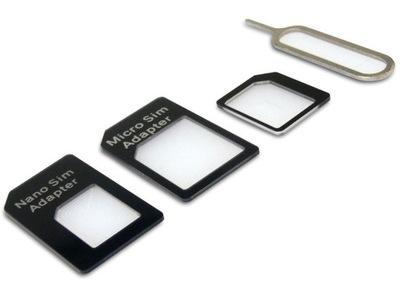 Adapter NANO MICRO SIM do Iphone Ipad HTC 4w1 +KEY
