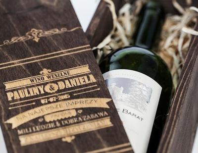 коробка коробка вино гравер подарок свадьба W1