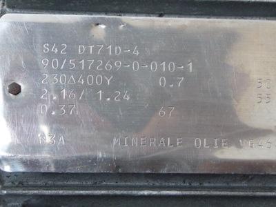 MOTOREDUKTOR SEW 0,37kw 67obr/min Fi 25 F.VAT