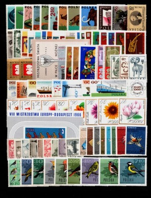 Год выпуска 1966. Fi 1504-1591, bl.47 - марки чистые