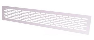 Kratka wentylacyjna aluminiowa 80x480 I - biała