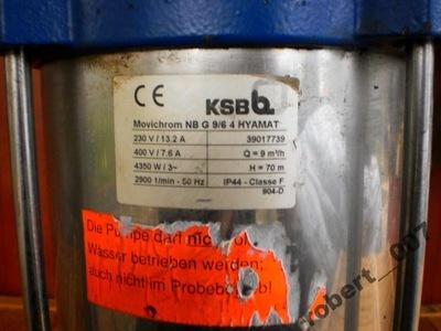pompa wody ksb Q 9m3/h H-70
