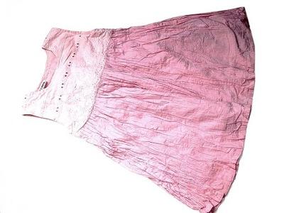 ETHEL AUSTIN pudrowa sukienka haftowana ___ 74/80